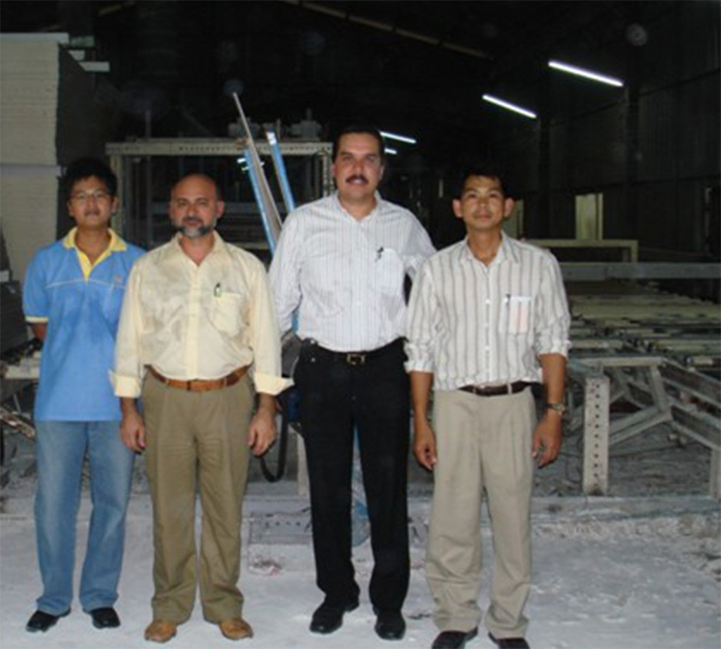 Visit our pilot plant in Thailand (capacity 1 Mil.sq.mm./year).