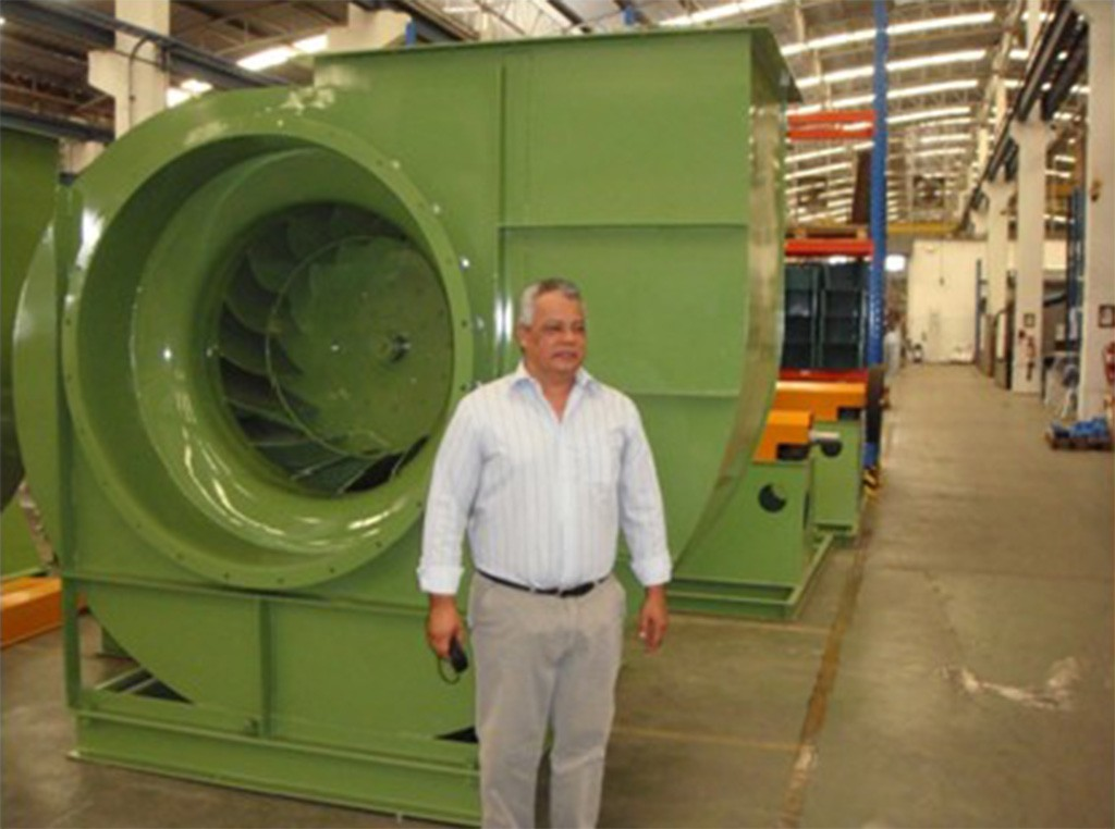 Mr. Inaldo visit Dryer blower shop.